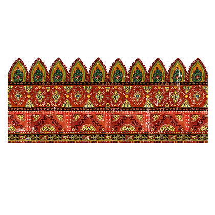 Bohemian Border IOD Decor Transfer - 12 x 33
