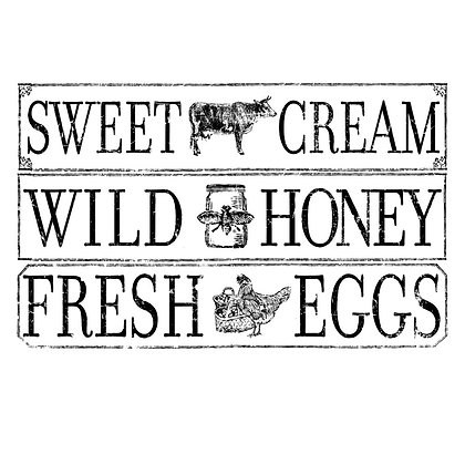 Farm Fresh Signage 14.25 x 24 Decor Transfer