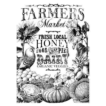 Farmer's Market IOD Paintable Image Transfer - 24 x 33