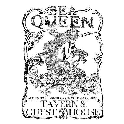 Sea Queen IOD Decor Transfer 11 x 14 (Small)