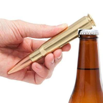 50 Caliber Bullet Bottle Opener in Brass