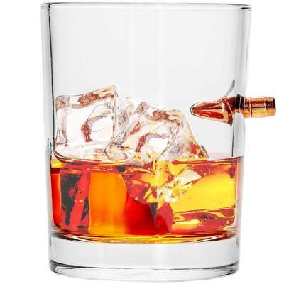 .308 Real Bullet Handmade Whiskey Glass