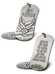 U.S. Air Force Antique Finish Dog Tag Necklace