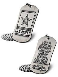 U.S. Army Antique Finish Dog Tag Necklace