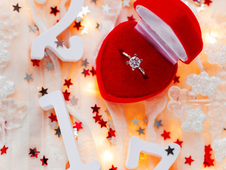 "Congratulations to brides everywhere that are saying ""yes"" to Christmas morning proposals! Contact A"