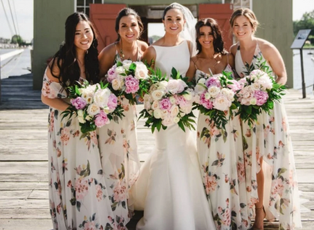 Trendy Floral Bridesmaid Dresses