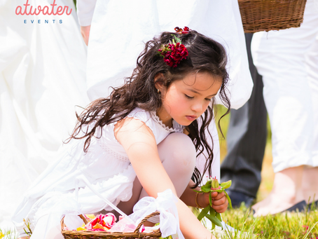The cute factor! Even if the ring bearer and flower girl don't make it down the aisle or have a brea