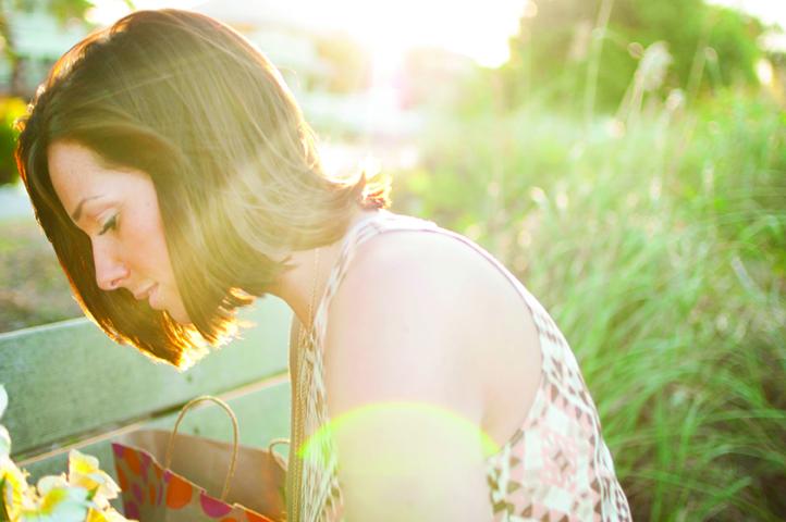 sun on her back lens flare