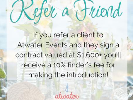 Refer a friend program!