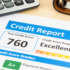 Credit score report with calculator and