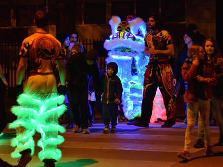 [Lyneham Community Association] PMDLD Brings Light Up Lions to Annual Parade