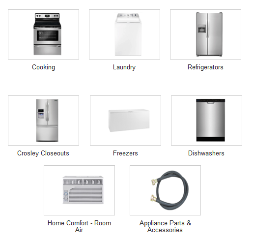 Cooking, stove, oven, range, laundry, washer, washing machine, dryer, drier, refrigerator, fridge, closeouts, sale, discount, affordable, cheap, freezer, chest freezer, upright freezer, dishwasher, air conditioner, humidifier, heater, infrared heater