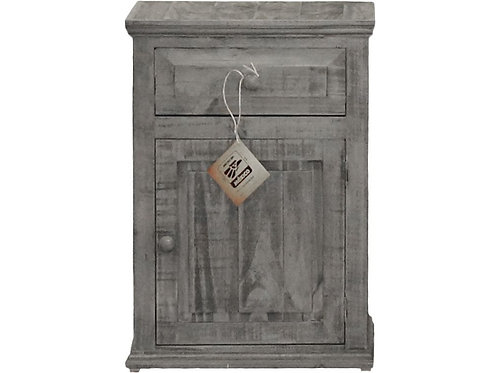 MD Rustic Charcoal Grey Mansion Night Stand