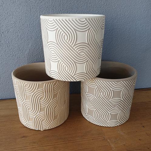 13.5cm Swirl Pots