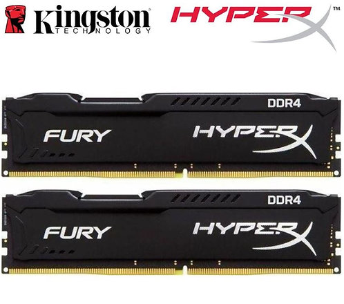 Kingston HyperX Fury 16GB (2x8GB) DDR4 UDIMM 2666MHz
