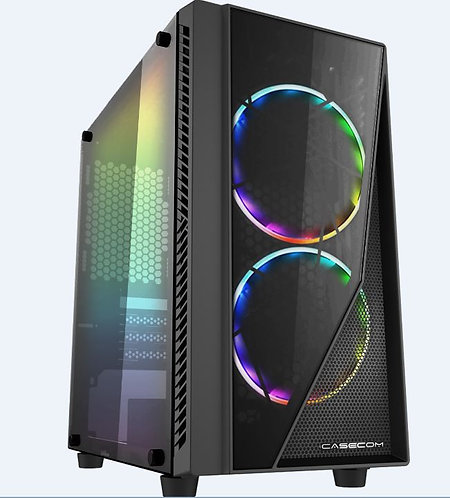 Casecom Gamming XM-91 Front & Side Transparent Temper glass Micro ATX