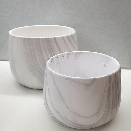Marble Look Pots