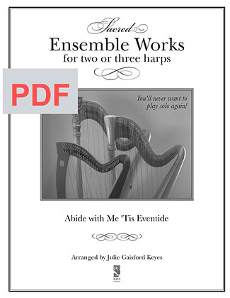 Abide with Me 'tis Eventide - 2 harps