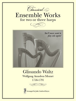 Glissando Waltz Mozart - 2 or 3 harps
