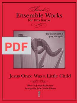 Jesus Once Was a Little Child - 2 harps PDF