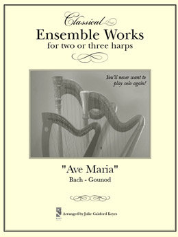 "Ave Maria ""Meditation"" Bach -  2 or 3 harps"