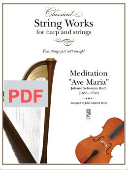 "Meditation ""Ave Maria"" Bach - violin & harp"