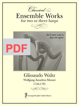 Glissando Waltz (Mozart) 2 to 3 harps PDF