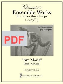 Ave Maria (Bach)  - 2 -3 Harps