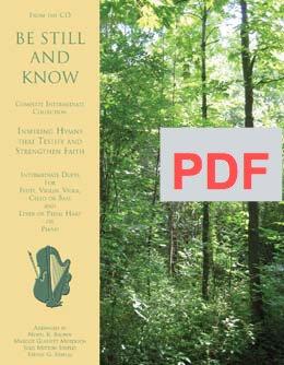 PDF Be Still and Know - Intermediate