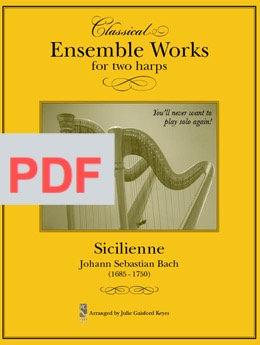 Sicilenne (Bach) - 2 harps