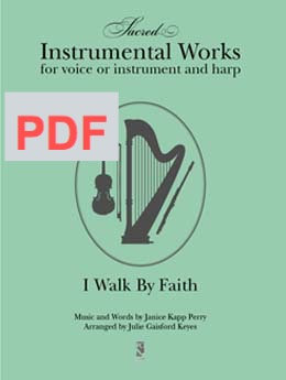 I Walk by Faith - harp & instrumental PDF