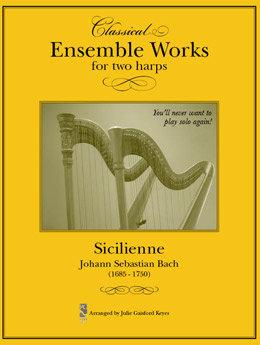 Sicilenne Bach - 2 harps