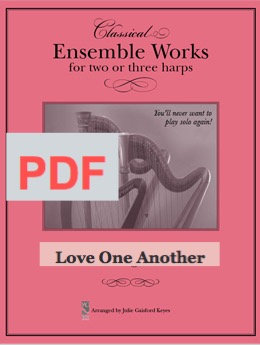 Love One Another - 2 harps PDF