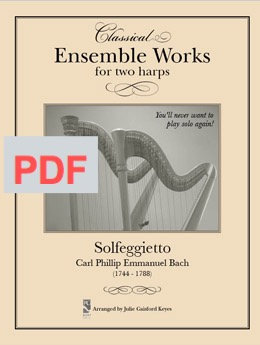 Solfegietto (Bach) 2 harps PDF
