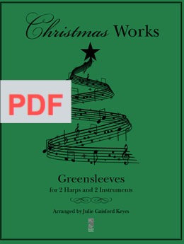 Greensleeves 2 harps and 2 instruments PDF