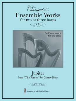 """Jupiter from """"The Planets""""  - 2 or 3 harps"""