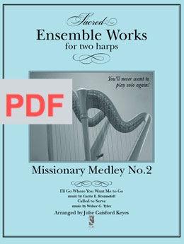 Missionary Medley - 2 harps PDF