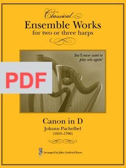 Canon in D (Pachelbel)  2-3 Harps PDF