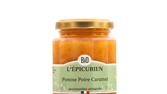 Confiture Pomme-Poire-Caramel 210G