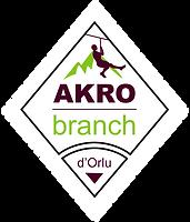 logo Akrobranc Orlu ariège acrobranche