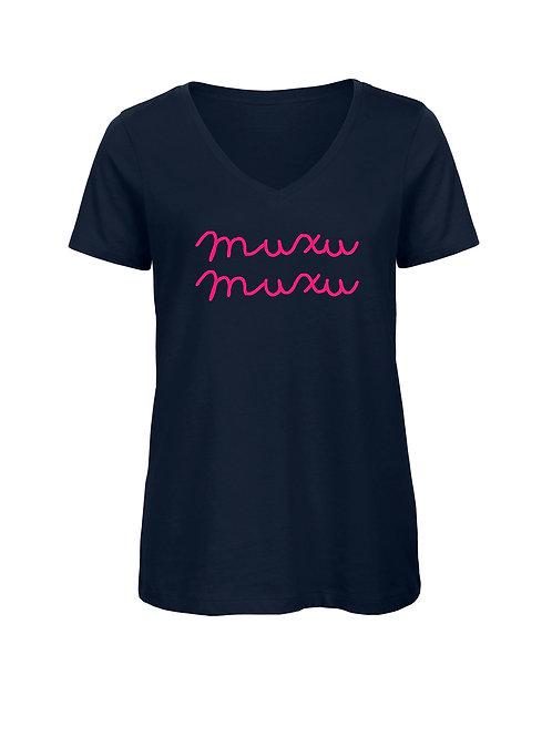 T-shirt muxu muxu V marine