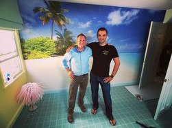 Custom Printed Wallpaper Mural For George To The Rescue