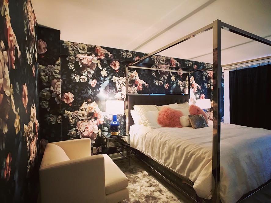 Ellie Ashman - dark floral wallpaper