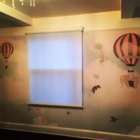 Custom printed wallpaper for baby's room