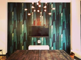 Flat Vernacular wallpaper- Feldspar-Emerald City