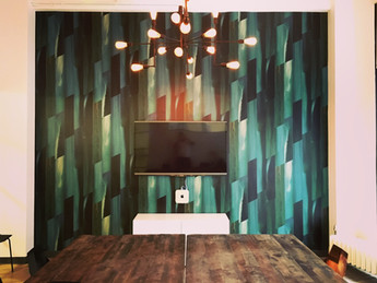 Flat Vernacular wallpaper- Feldspar-Emerald City