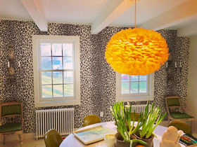 Schumacher Iconic Leopard Wallcovering in Ink