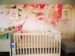 AneWall - Contemporary Spring Floral Wallpaper in nursery