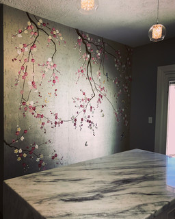 Griffin and Wong Chinoiserie hand painted wallpaper