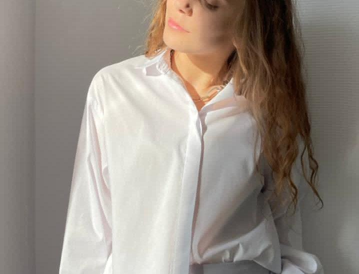 Кроп-рубашка из поплина